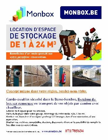 Service de livraison de box à votre domcile, ou camion de 30 M³ pour votre déménagement.